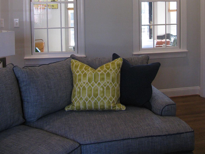 Family room pillows