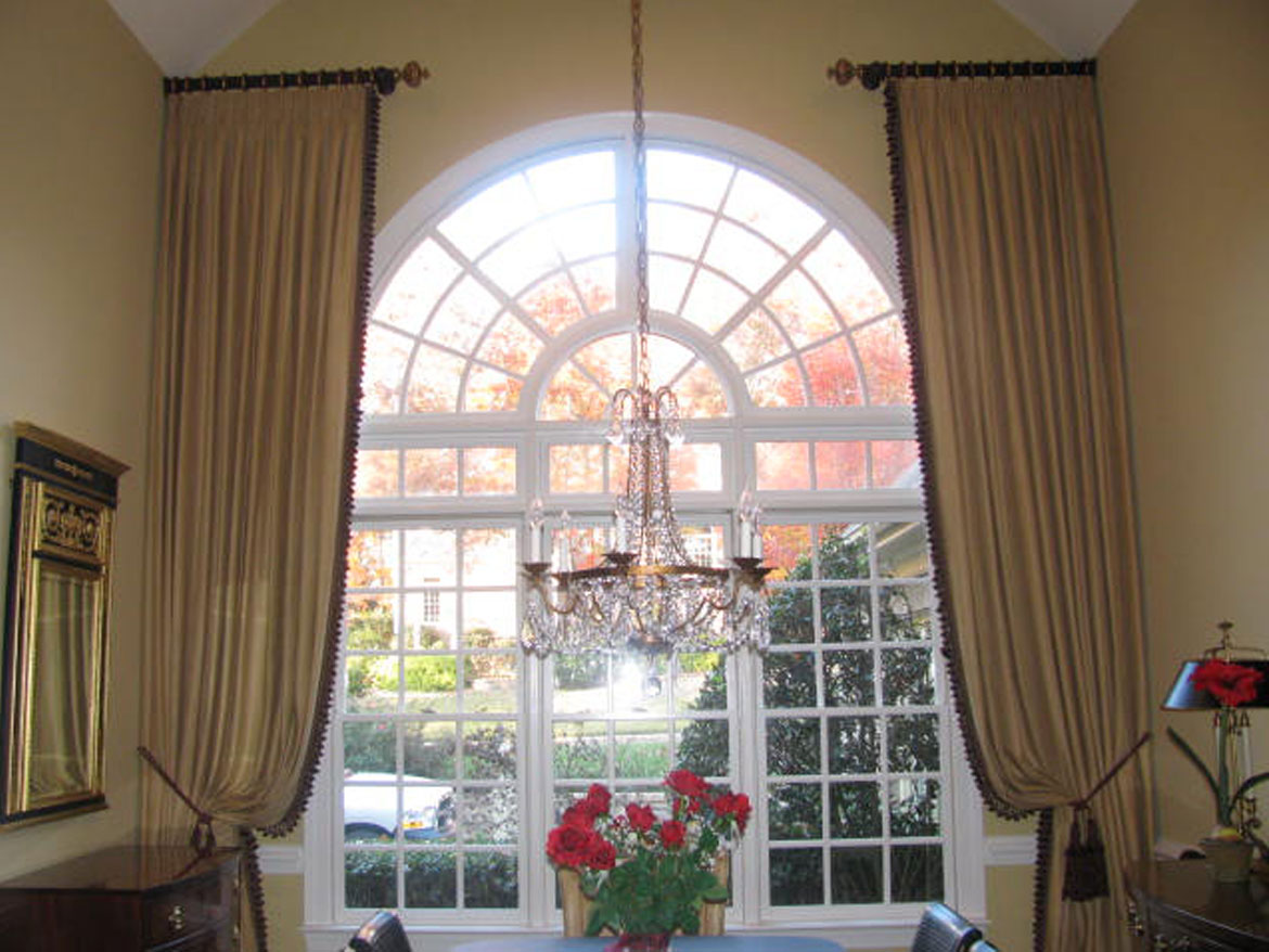 Arched Window With Drapes Ronica S Custom Creations