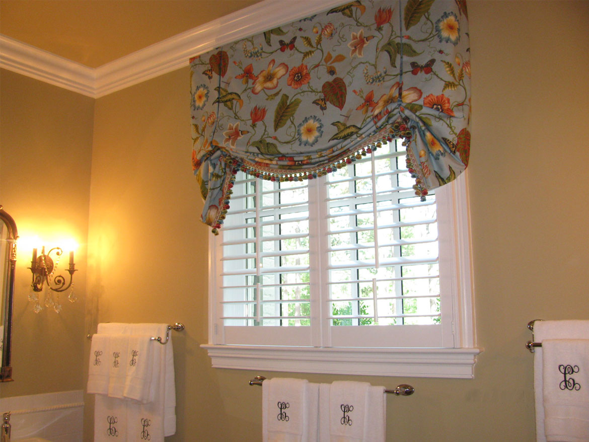 Bathroom Floral Faux Roman Shade Ronica S Custom Creations