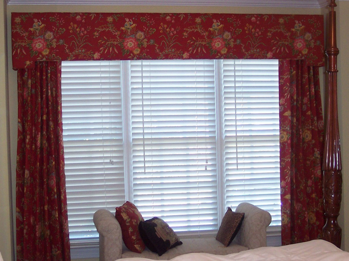 Red Floral Cornice And Drapes Ronica S Custom Creations