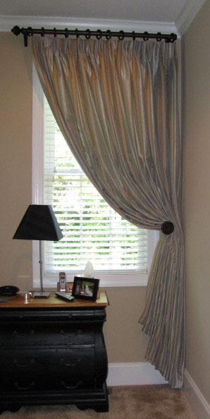 Bedroom With Single Panel Drape Ronica S Custom Creations