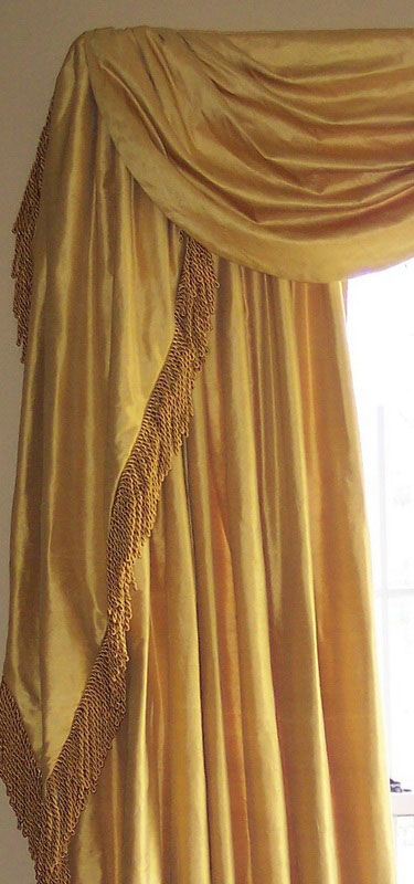 Gold Drapes With Fringe Ronica S Custom Creations