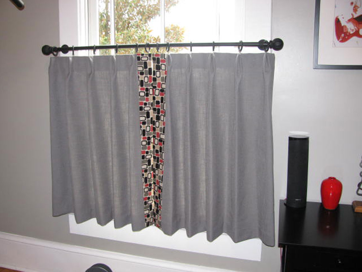 Grey And Geometric Cafe Curtains Ronica S Custom Creations