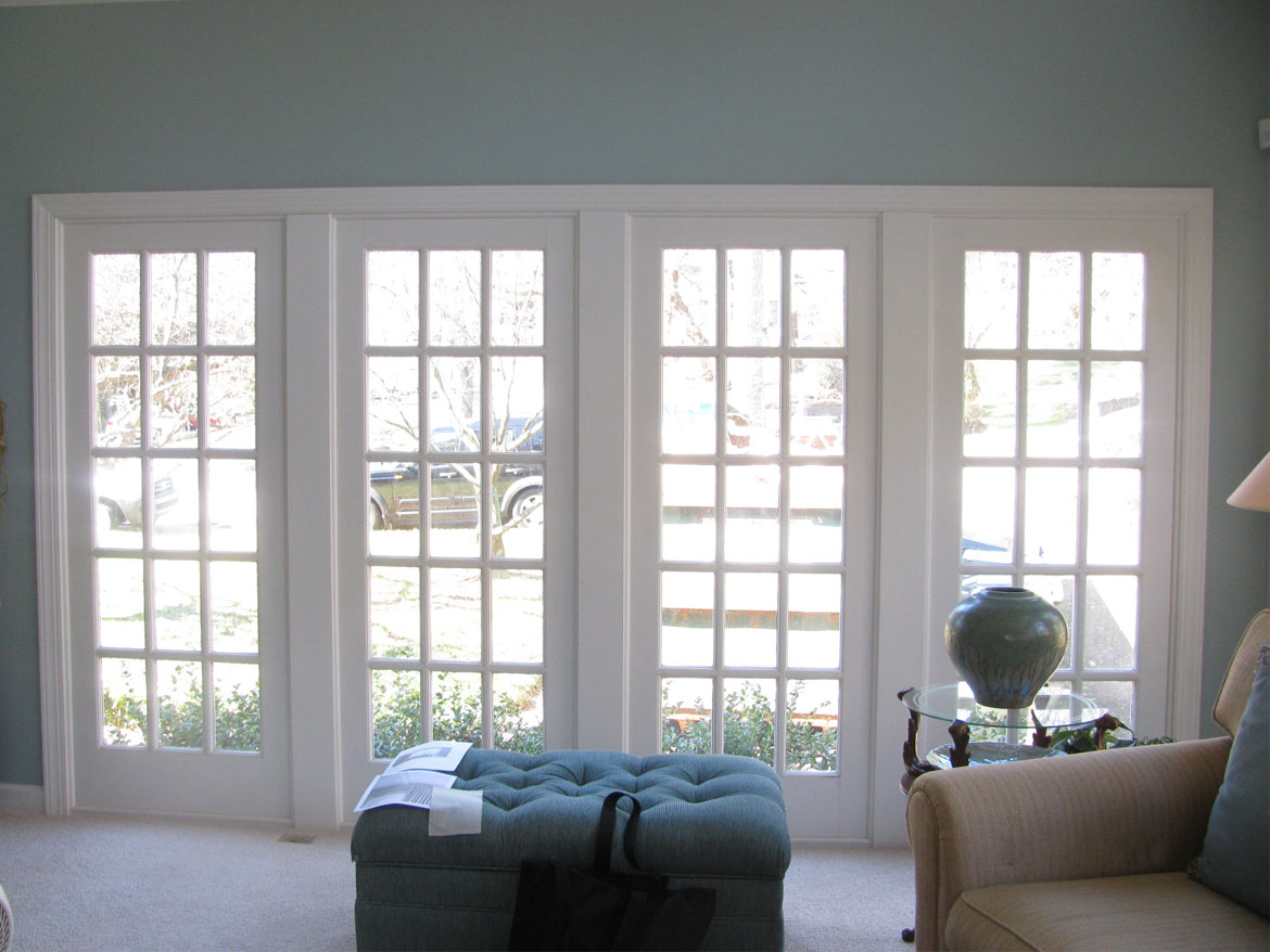 Living room windows before