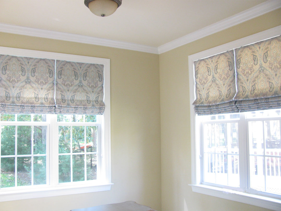 Master Bedroom Roman Shades Before And After Ronica S