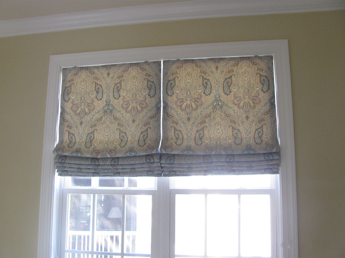 Master Bedroom Roman Shades Before And